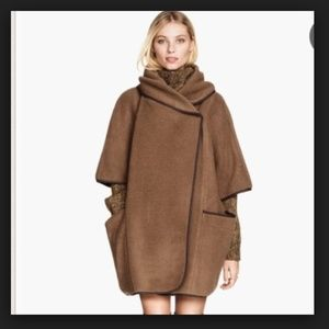 H&M BROWN COCOON WRAP SHAWL CAPE COAT WHAT TO WEAR